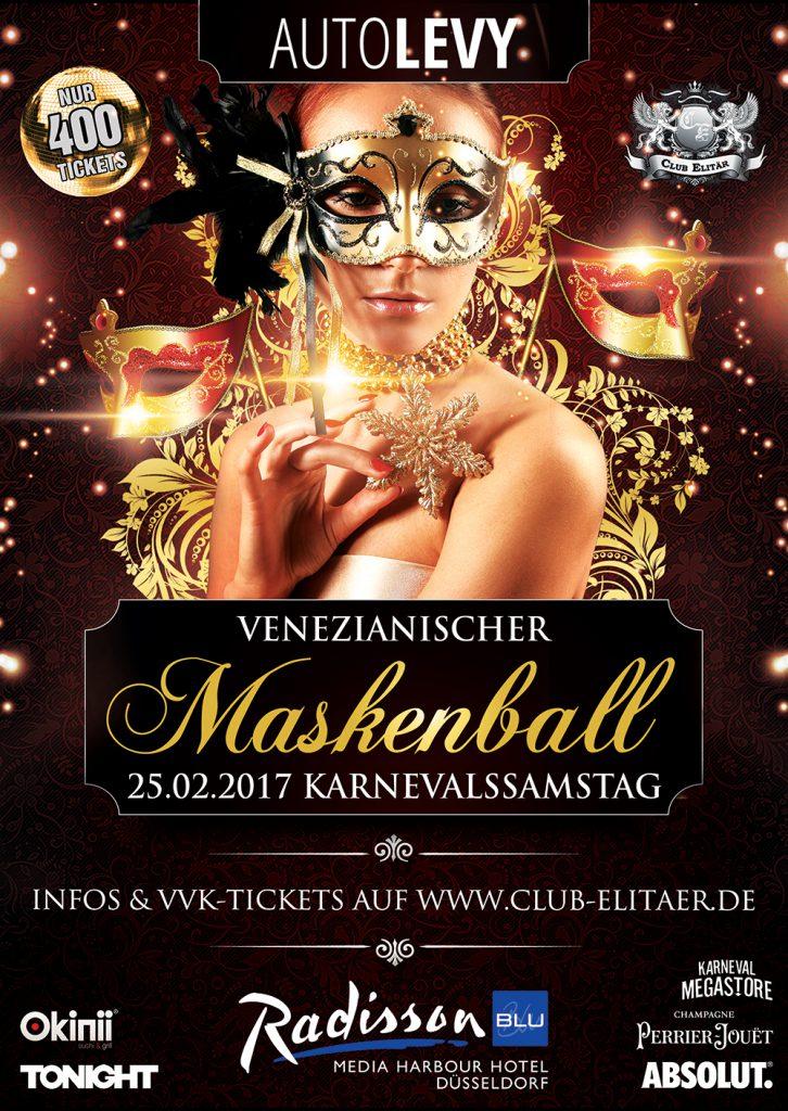 Maskenball Karneval Düsseldorf 2016