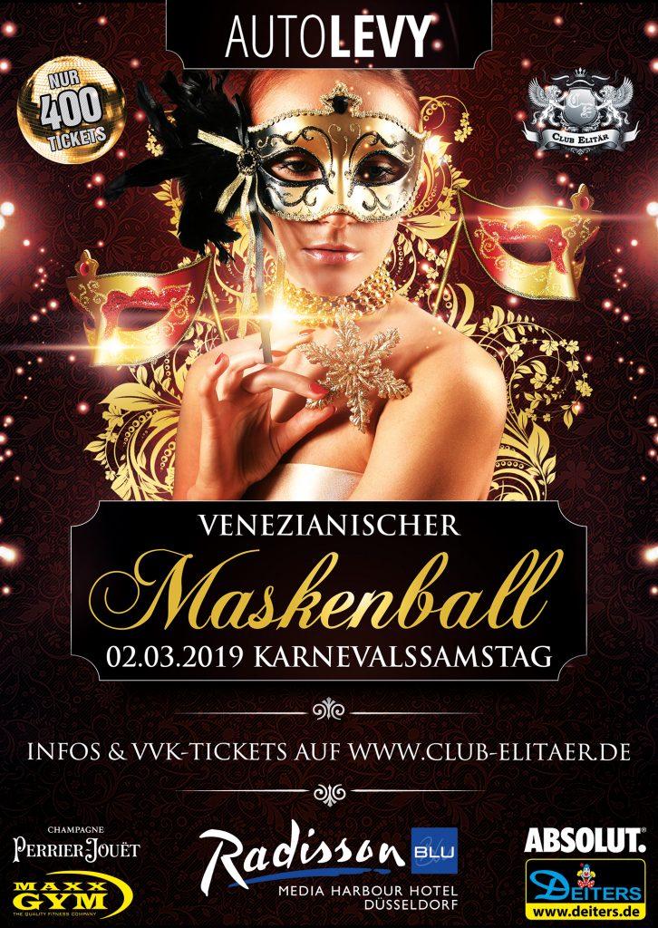 Maskenball Karneval Düsseldorf 2018